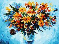 "Картина по номерам ""Разноцветные ромашки"" (400х300 мм)"