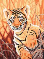 "Картина по номерам ""Тигренок в джунглях"" (300х400 мм)"