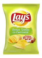 """Чипсы картофельные """"Lay's. Белые грибы со сметаной"""" (80 г)"""