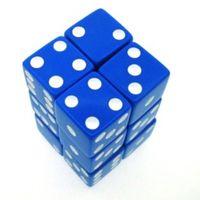 """Набор костей игральных """"Простые"""" (D6, 16мм, 12 шт, сине-белый)"""