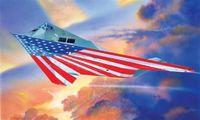 "Ударный самолет ""F-117A NIGHTHAWK STARS AND STRIPES"" (масштаб: 1/72)"