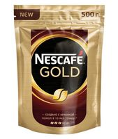 "Кофе растворимый с добавлением молотого ""Nescafe. Gold"" (500 г)"