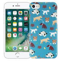 "Чехол для iPhone 7/8 ""Собачки"" (голубой)"