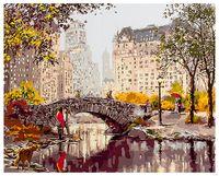 """Картина по номерам """"Мост в городском парке"""" (400х500 мм)"""