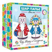 """Набор для изготовления фигурок """"Дед Мороз и Снегурочка"""""""