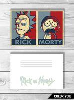 """Открытка №822 """"Рик и Морти"""""""