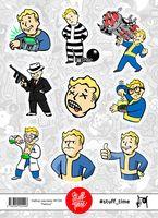 """Набор бумажных наклеек №100 """"Fallout"""""""