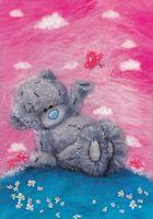 "Картина из шерсти ""Татти Тедди с бабочкой"""