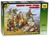 """Набор миниатюр """"Немецкие горные стрелки Эдельвейс"""" (масштаб: 1/35)"""