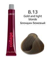 """Крем-краска для волос """"Collage Creme Hair Color"""" (тон: 8/13, блондин бежевый)"""