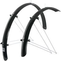 """Комплект щитков для велосипеда с подпорками """"Aluflex"""" (28""""; чёрный)"""