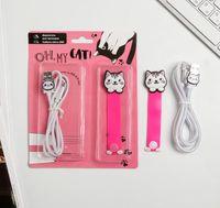 """Подарочный набор """"Oh, my cat"""" (кабель USB; держатель для проводов)"""