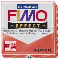 """Глина полимерная """"FIMO Effect"""" (полупрозрачный красный; 56 г)"""