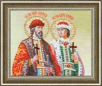 """Вышивка бисером """"Святые Князья Борис и Глеб"""""""