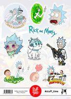 """Набор бумажных наклеек №68 """"Рик и Морти"""""""