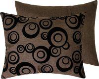 "Подушка ""Круги"" (37x47 см; коричневая)"