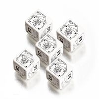 """Набор кубиков """"Wild Dice"""" (5 шт, белый, для игр по системе Savage Worlds)"""