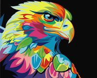 "Картина по номерам ""Радужный орел Ваю Ромдони"" (400х500 мм)"