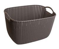 """Корзина """"Knit L"""" (темно-коричневая)"""