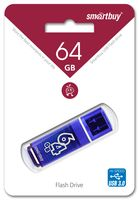 USB Flash Drive 64Gb SmartBuy Glossy series (Dark Blue)