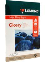 Фотобумага глянцевая односторонняя Lomond (50 листов; 170 г/м2; А4)