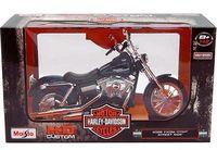 """Модель мотоцикла """"Harley-Davidson FXDBI Dyna Street Bob"""" (масштаб: 1/12)"""