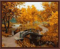 "Картина по номерам ""Осенний мостик в парке"" (400х500 мм)"