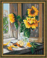 "Картина по номерам ""Подсолнухи в вазе"" (400х500 мм)"