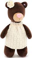 """Мягкая игрушка """"Медведь Milk в кружевном платье"""" (30 см)"""
