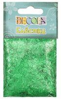 """Блестки декоративные """"Decola"""" (изумрудный; 20 г; 0,3 мм)"""