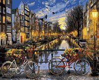 """Картина по номерам """"Ночной Амстердам"""" (400х500 мм)"""