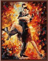 "Картина по номерам ""Танго"" (400х500 мм; цветной холст)"
