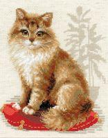 "Вышивка крестом ""Кошка домашняя"" (240х300 мм)"