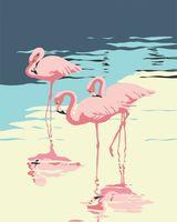 "Картина по номерам ""Фламинго"" (500х400 мм)"