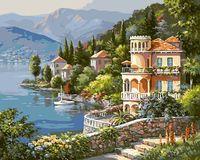 "Картина по номерам ""Вилла на берегу озера"" (400х500 мм)"