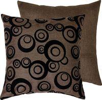"Подушка ""Круги"" (44x44 см; коричневая)"