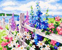 """Картина по номерам """"Цветочная изгородь"""" (400x500 мм; арт. MG184)"""