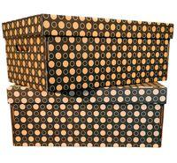 Набор коробок (2 шт.; черные; арт. GDK001d)