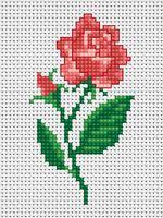 """Вышивка крестом """"Роза"""" (50х90 мм)"""