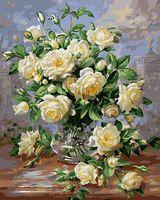 "Картина по номерам ""Белые розы"" (400х500 мм)"