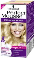 "Краска-мусс для волос ""Perfect Mousse"" тон: 1200, ультра блонд"