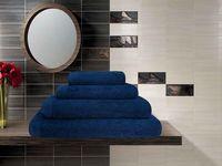 Полотенце махровое (70x140 см; темно-синее)