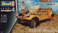 "Сборная модель ""Автомобиль Type 82 ""Kübelwagen"" (масштаб: 1/35)"