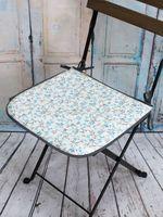 "Подушка на стул ""Seat. Голубые Цветы"" (40х40 см)"