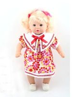 """Кукла """"Девочка в платье с бантиком"""""""