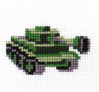 "Вышивка крестом ""Танк"" (40х80 мм)"