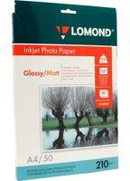 Фотобумага глянцевая/матовая двусторонняя Lomond (50 листов; 210 г/м2; А4)