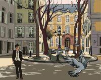 "Картина по номерам ""Улица в Париже"" (400х500 мм)"
