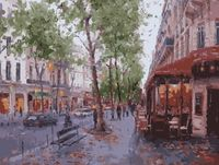 "Картина по номерам ""Осень в Лондоне"" (400х500 мм)"