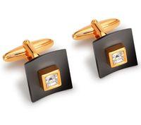 Запонки (цвет: золотой, с темными вставками, 11-0043/17A)